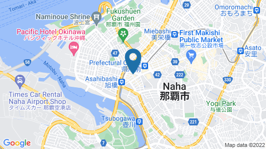 Okinawa Kariyushi LCH. Izumizaki Kenchomae Map