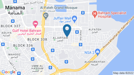 Juffair Gate Hotel Map