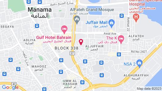 Wyndham Garden Manama Map
