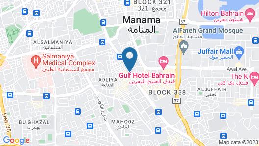 Seashell Hotel Bahrain Map