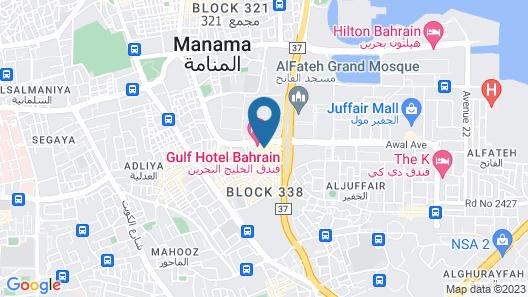 The Gulf Hotel Bahrain Map