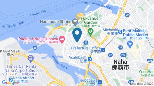 Villa Coast Nishimachi Guesthouse in Okinawa Map