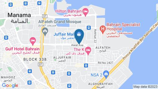 Arman Hotel Juffair Mall Map