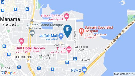 Afaq Tower Map