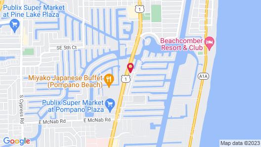 Hampton Inn Ft Lauderdale Pompano Beach FL Map