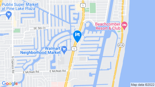 Hampton Inn Ft Lauderdale Pompano Beach FL Map