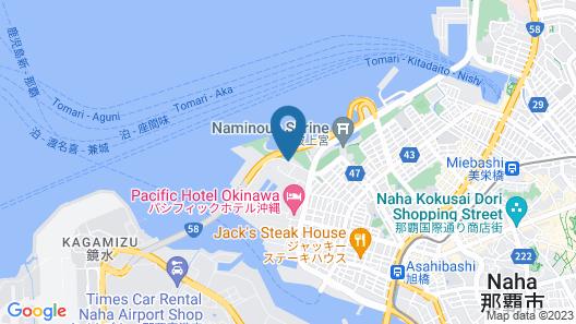 Naha Beach Side Hotel Map
