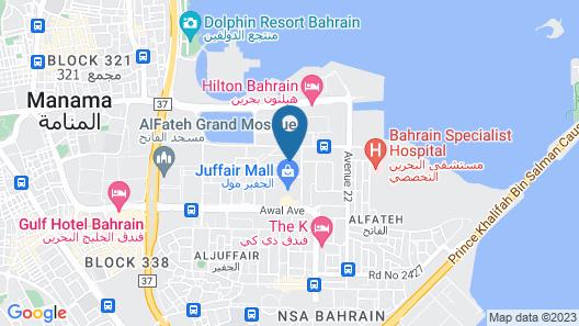Taj Plaza Hotel Map