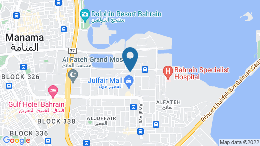 Marina Tower Juffair Map