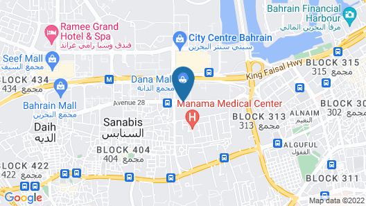Tulip Inn Bahrain Suites And Residences Map