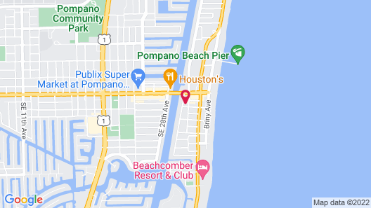 Riverside Apartments By The Beach Map