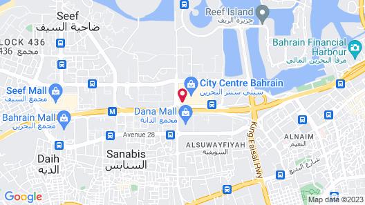 Le Méridien City Centre Bahrain Map