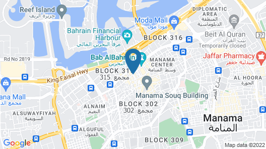 Al Jazira Hotel Map