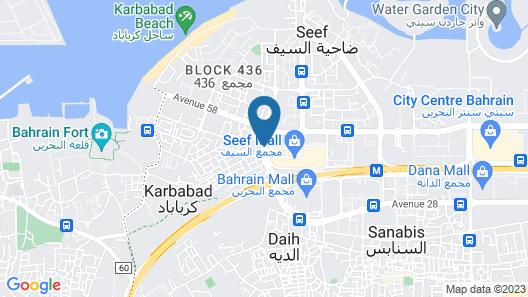 Fraser Suites Seef Bahrain Map