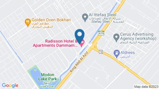 Park Inn by Radisson Hotel & Apartments Dammam Industrial City Map