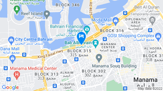 InterContinental Bahrain, an IHG Hotel Map