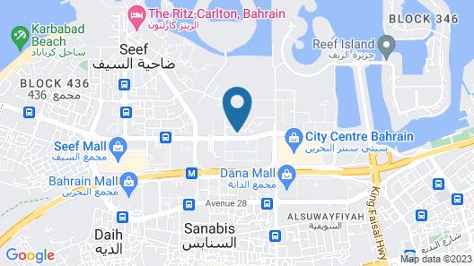 S Hotel Bahrain Map