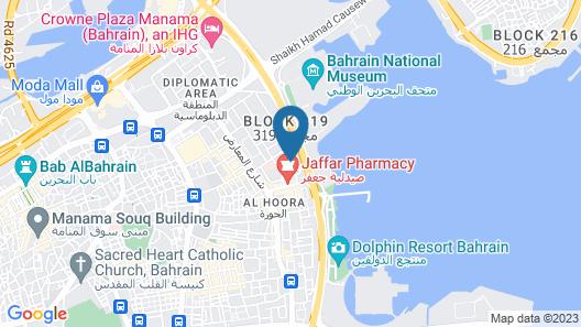 Phoenicia Hotel Bahrain Map