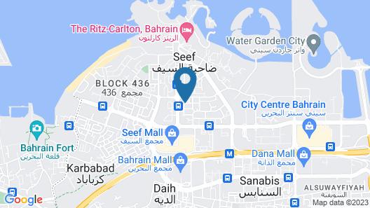 Asdal Gulf Inn Boutique Hotel Seef Map