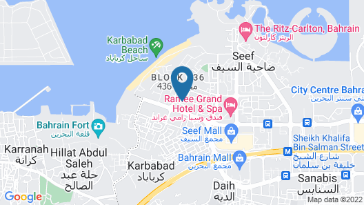 Hani Suites Spa Manama Map