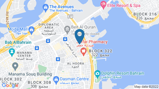 Meshal Hotel & Spa Map