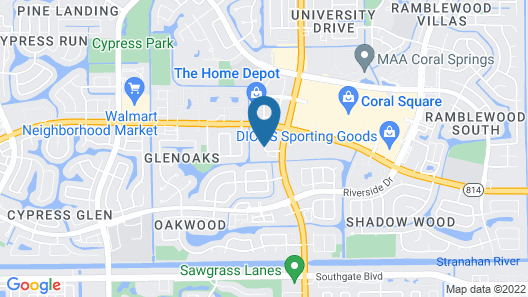 Courtyard By Marriott Fort Lauderdale Coral Springs Map