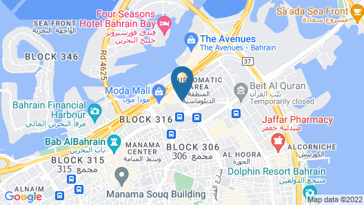 Golden Tulip Bahrain Map