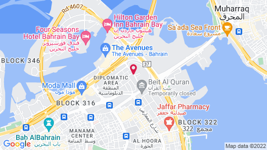 Fraser Suites Diplomatic Area Bahrain Map