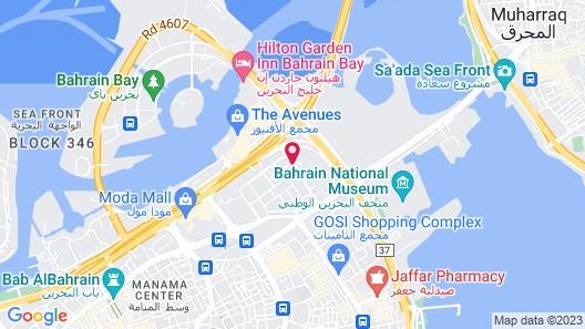 Crowne Plaza Bahrain Map