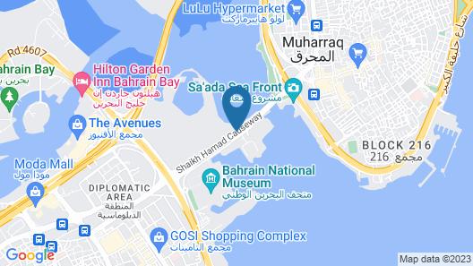 Novotel Bahrain Al Dana Resort Map