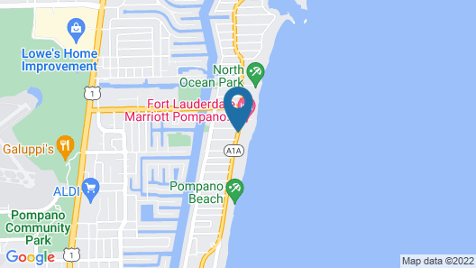 Fort Lauderdale Marriott Pompano Beach Resort and Spa Map