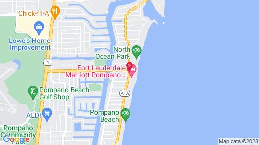 Residence Inn Fort Lauderdale Pompano Beach / Oceanfront Map