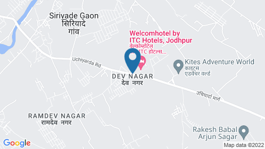 WelcomHotel Jodhpur- Member ITC's Hotel Group Map