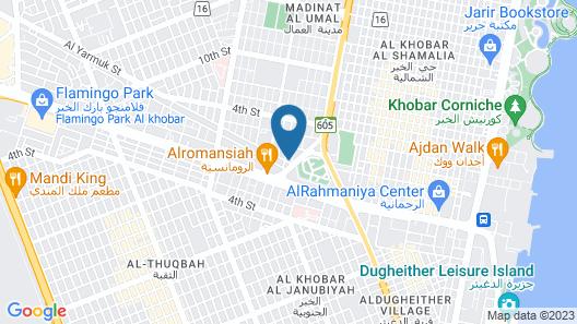 Ramada by Wyndham Al Khobar King Abdullah Street Map