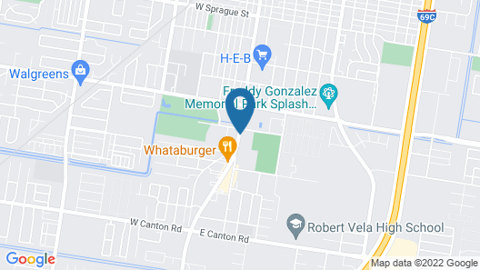 Motel 6 Edinburg, TX Map