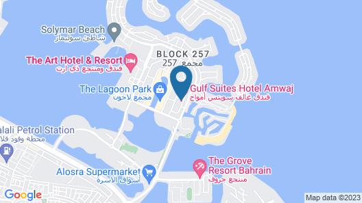Gulf Suites Hotel Amwaj Map