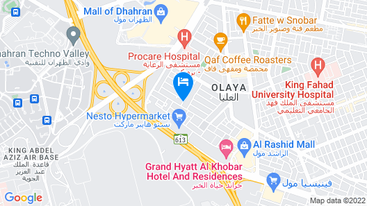 Danar Hotel Apartments 2 Map