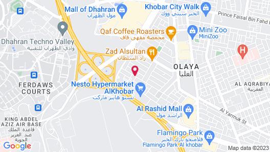Villa Hotel Apartments Al Khobar Map