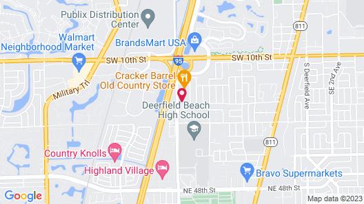 WoodSpring Suites Deerfield Beach Map