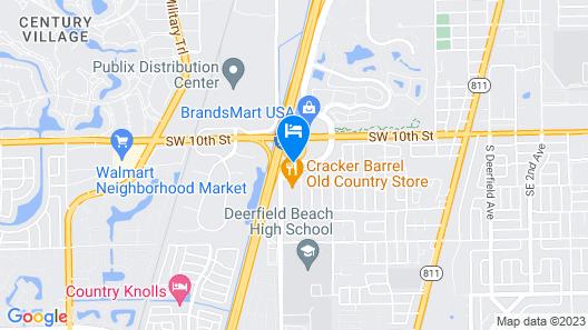 Extended Stay America Fort Lauderdale - Deerfield Beach Map