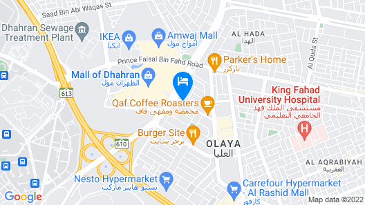 DoubleTree by Hilton Hotel Dhahran Map