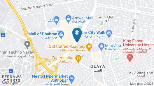 Aloft Dhahran Map