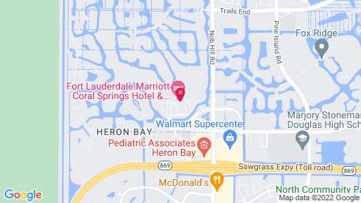 Fort Lauderdale Marriott Coral Springs Hotel & Convention Center Map