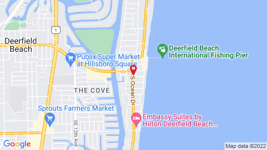 Comfort Inn Oceanside Deerfield Beach Map