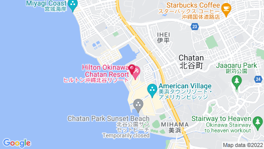 Hilton Okinawa Chatan Resort Map