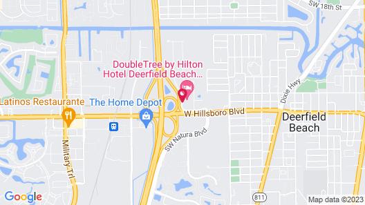Doubletree by Hilton Hotel Deerfield Beach - Boca Raton Map
