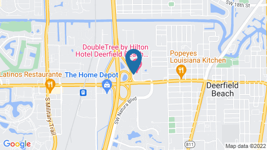 Doubletree by Hilton Hotel Deerfield Beach - Boca Raton Map