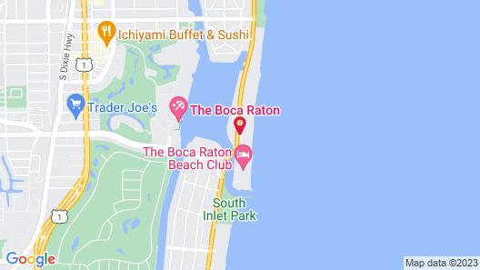 Boca Beach Club, A Waldorf Astoria Resort Map