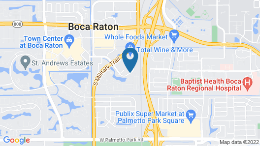 Boca Raton Marriott at Boca Center Map
