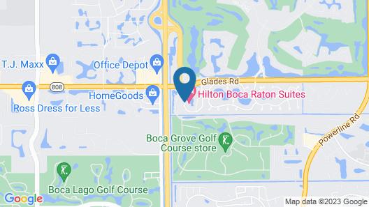 Hilton Boca Raton Suites Map